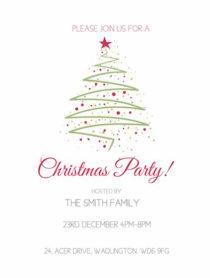 Christmas tree modern invite