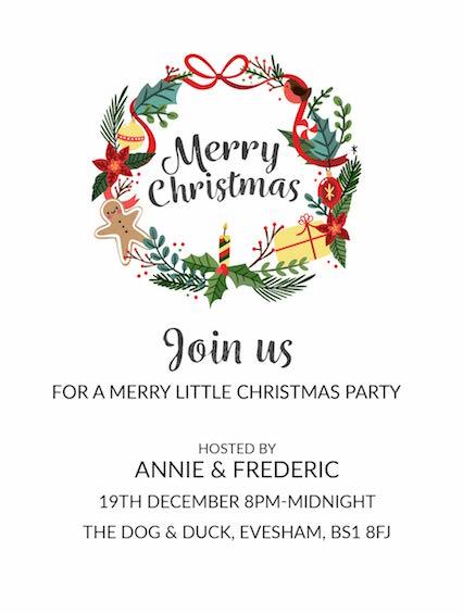 Christmas Fun Wreath Invitation