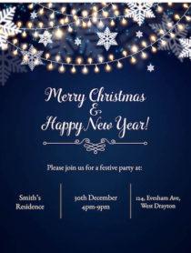 Festive Lights Invitation