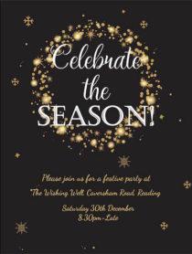 Christmas Gold Sparkle Invitation